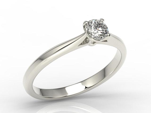 Pierścionek Zaręczynowy Z Białego Złota Z Brylantem Ap 3530b