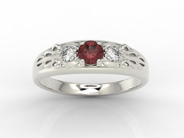 pierścionek z granatem