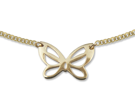 14ct gold necklace with butterfly motif - model 22