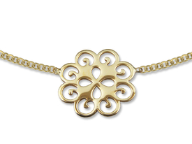 14ct gold necklace with flower motif - model 23