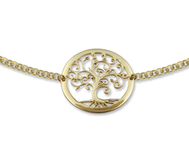 14ct gold necklace with lucky tree motif - model 21