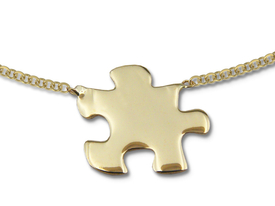 14ct gold necklace with puzzel motif - model 17