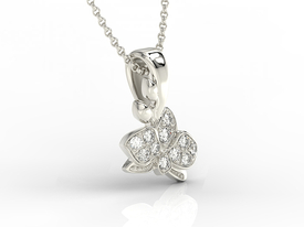 14ct white gold pendant with cubic zirconias BPW-45B-C