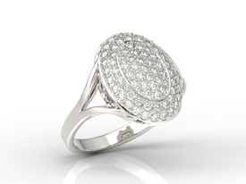 14ct white gold ring with cubic zirconias AP-91B-C