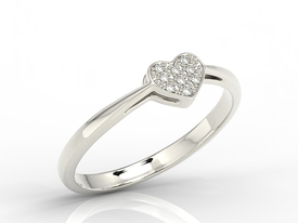14ct white gold ring with cubic zirconias LP-40B-C