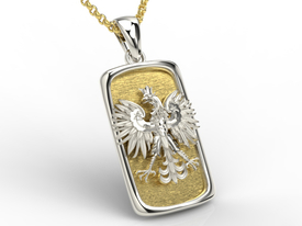 14ct white & yellow gold pendant with an eagle BPW-25BZ
