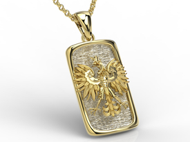 14ct white & yellow gold pendant with an eagle BPW-25ZB