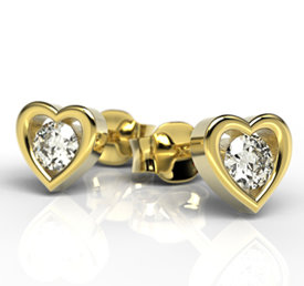14ct yellow gold earrings with cubic zirconias LPK-52Z-C