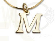 "14ct yellow gold letter ""M"" & ""W"" - model 1"