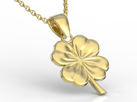 14ct yellow gold pendant in the shape of a clover BP-19Z