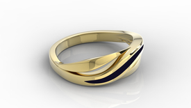 14ct yellow gold ring with enamel BP-37Z