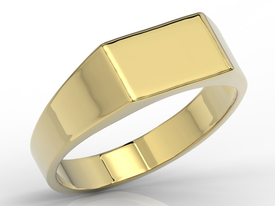 14ct yellow gold signet SJ-25Z