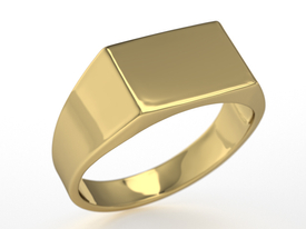 14ct yellow gold signet SJ-26Z