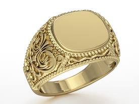 14ct yellow gold signet SJ-27Z