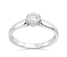 Diamond 14 ct white gold engagement ring BP-2130B