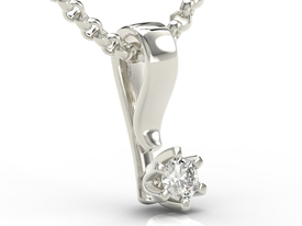 Diamond 14ct white gold pendant LP-8010B