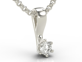 Diamond 14ct white gold pendant LP-8016B