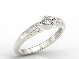Diamond 14ct white gold ring AP-44B