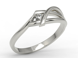 Diamond, 14ct white gold ring AP-72B