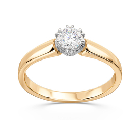 Diamond 14ct white & yellow gold engagement ring BP-2130ZB