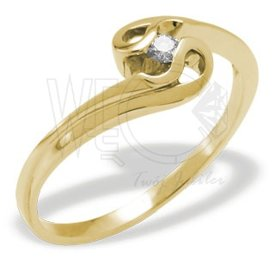 Diamond 14ct yellow gold ring JP-11Z