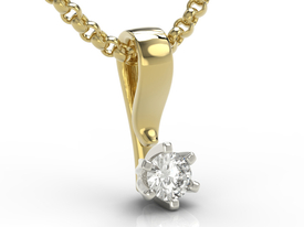 Diamond 14ct yellow & white gold pendant LP-8016ZB