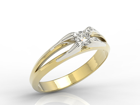 Diamond engagement ring from yellow & white gold BP-4316ZB