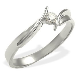 Diamond solitaire 14ct white gold engagement ring CP-4010ZB