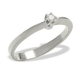 Diamond solitaire 14ct white gold ring 0,06ct  AP-1006B