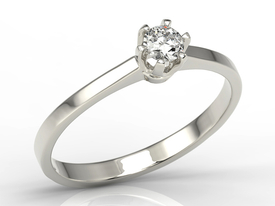 Diamond solitaire 14ct white gold ring AP-1720B