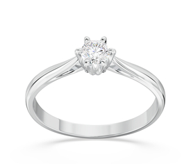 Diamond solitaire 14ct  white gold ring AP-6618B