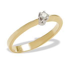 Diamond solitaire 14ct yellow & white gold ring 0,06ct  AP-1006ZB