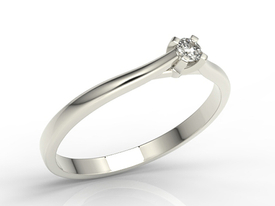 Diamond solitaire engagement, 14ct white gold ring AP-3308B