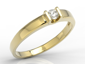 Diamond solitaire engagement ring 14ct gold JP-9812Z