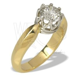 Diamond solitaire ring ~1,08ct  AP-90ZB 14ct yellow & white gold