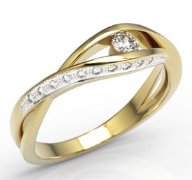 Diamonds 14 yellow gold ring LP-60Z