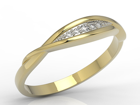 Diamonds 14ct gold ring AP-76Z-R