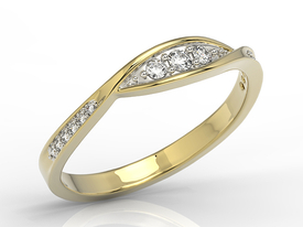 Diamonds 14ct gold ring AP-97Z-R