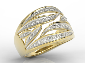 Diamonds 14ct gold ring BP-32Z
