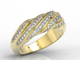 Diamonds 14ct gold ring JP-68Z-R