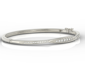 Diamonds 14ct white gold bracelet  APBr-97B