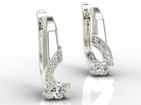 Diamonds 14ct white gold earrings JPK-66B
