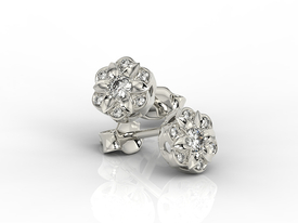 Diamonds 14ct white gold earrings JPK-87B