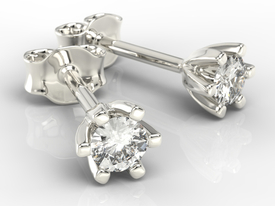 Diamonds 14ct white gold earrings LPK-8020B