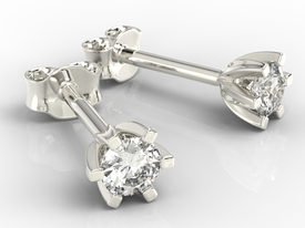 Diamonds 14ct white gold earrings LPK-8032B