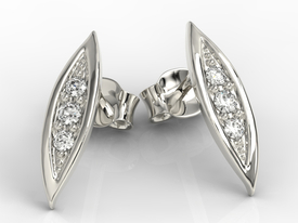 Diamonds 14ct white gold errings APK-97B