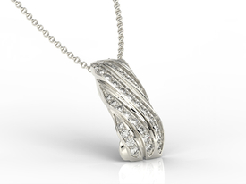 Diamonds 14ct white gold pendant JPW-68B