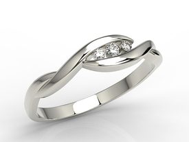 Diamonds 14ct white gold ring AP-4304B