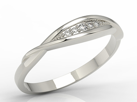 Diamonds 14ct white gold ring AP-76B