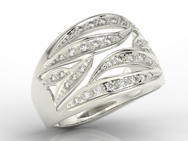 Diamonds 14ct white gold ring BP-32B